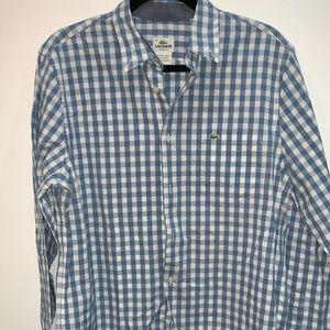 Lacoste Men's Plaid Button Down